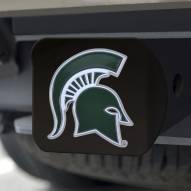Michigan State Spartans Black Color Hitch Cover