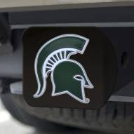 Michigan State Spartans Black Color Hitch Cover