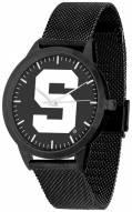 Michigan State Spartans Black Dial Mesh Statement Watch