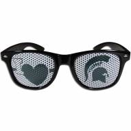 Michigan State Spartans Black I Heart Game Day Shades