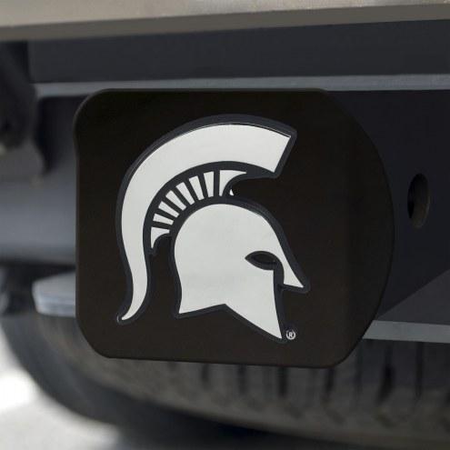 Michigan State Spartans Black Matte Hitch Cover