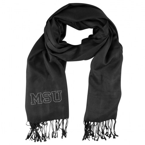 Michigan State Spartans Black Pashi Fan Scarf