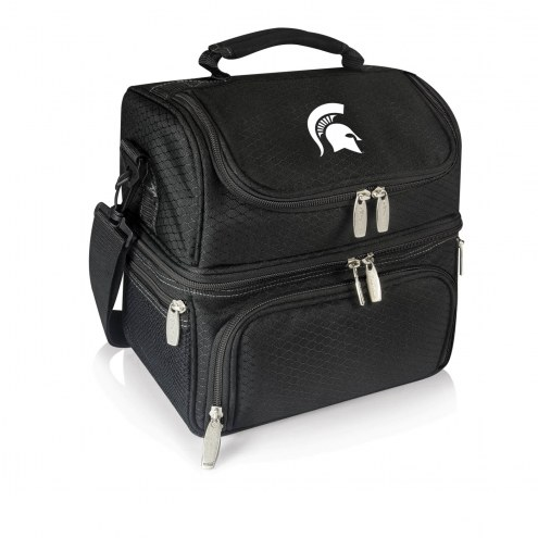 Michigan State Spartans Black Pranzo Insulated Lunch Box