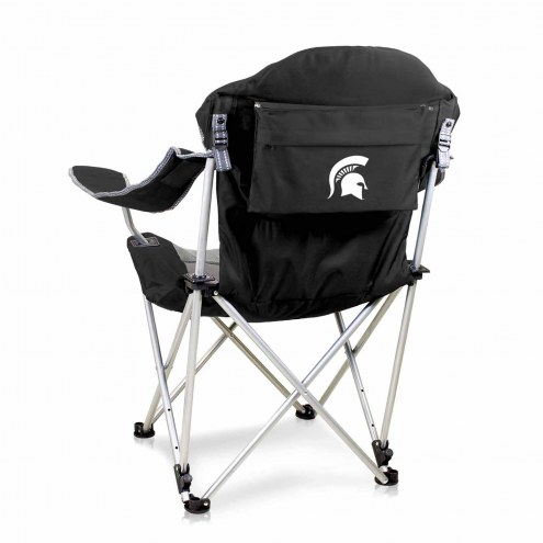 Michigan State Spartans Black Reclining Camp Chair