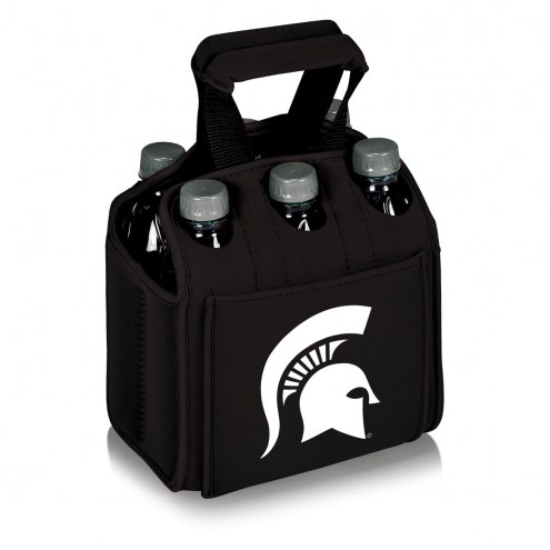 Michigan State Spartans Black Six Pack Cooler Tote