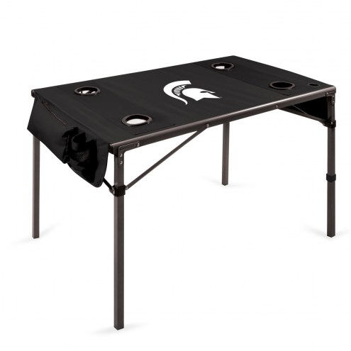 Michigan State Spartans Black Travel Table