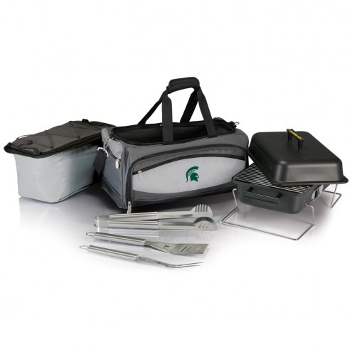 Michigan State Spartans Buccaneer Grill, Cooler and BBQ Set