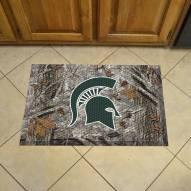 Michigan State Spartans Camo Scraper Door Mat