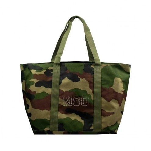 Michigan State Spartans Camo Tote Bag