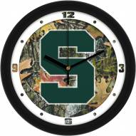 Michigan State Spartans Camo Wall Clock