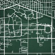 Michigan State Spartans Campus Map Print
