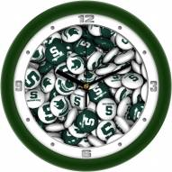 Michigan State Spartans Candy Wall Clock
