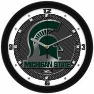 Michigan State Spartans Carbon Fiber Wall Clock