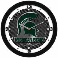 Michigan State Spartans Carbon Fiber Wall Clock