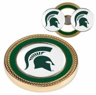 Michigan State Spartans Challenge Coin with 2 Ball Markers