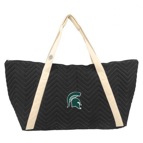 Michigan State Spartans Chevron Stitch Weekender Bag