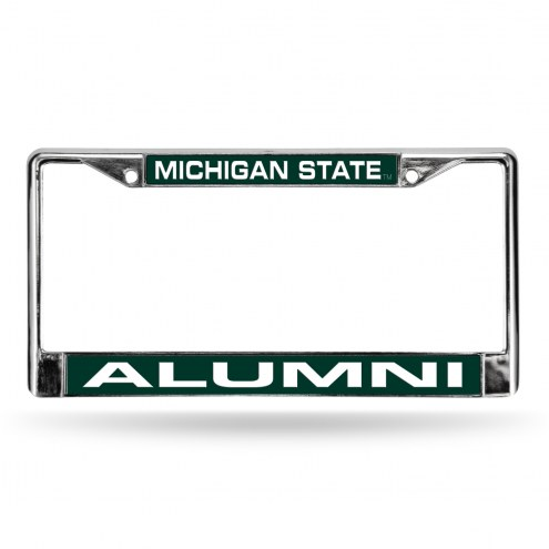 Michigan State Spartans Chrome Alumni License Plate Frame