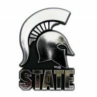 Michigan State Spartans Chrome Car Emblem