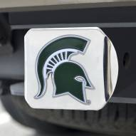 Michigan State Spartans Chrome Color Hitch Cover