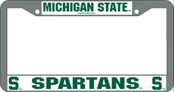 Michigan State Spartans Chrome License Plate Frame