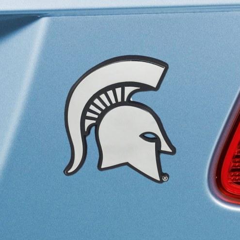 Michigan State Spartans Chrome Metal Car Emblem