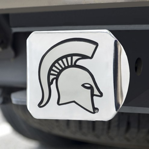 Michigan State Spartans Chrome Metal Hitch Cover