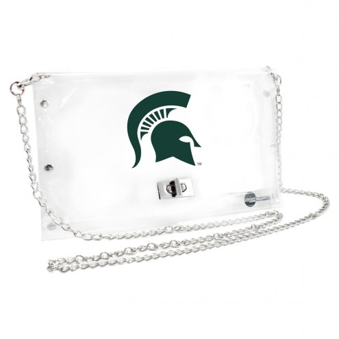 Michigan State Spartans Clear Envelope Purse