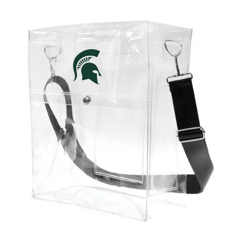 Michigan State Spartans Clear Ticket Satchel