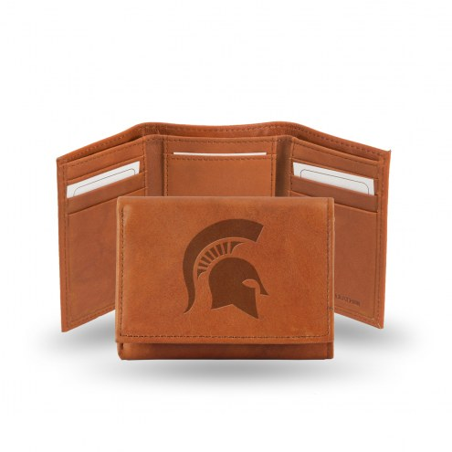 Michigan State Spartans College Embossed Tri-Fold Wallet