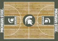 Michigan State Spartans College Home Court Area Rug