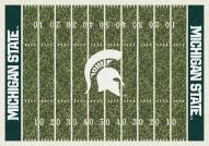 Michigan State Spartans College Home Field Area Rug