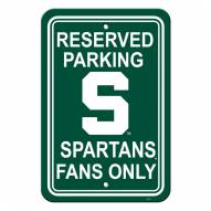 Michigan State Spartans College Parking Sign