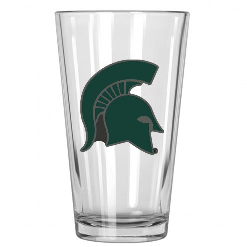 Michigan State Spartans College 16 Oz. Pint Glass 2-Piece Set