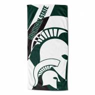 Michigan State Spartans Puzzle Beach Towel