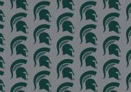 Michigan State Spartans College Repeat Area Rug