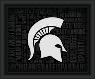 Michigan State Spartans College Word Cloud