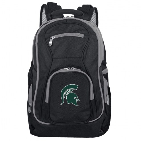 NCAA Michigan State Spartans Colored Trim Premium Laptop Backpack