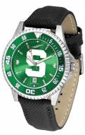 Michigan State Spartans Competitor AnoChrome Men's Watch - Color Bezel