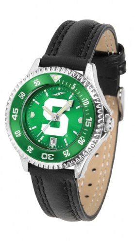 Michigan State Spartans Competitor AnoChrome Women's Watch - Color Bezel