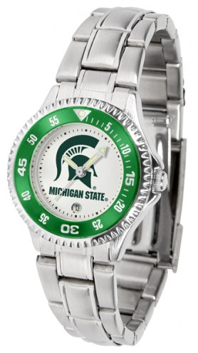 Michigan State Spartans Competitor Steel Women's Watch