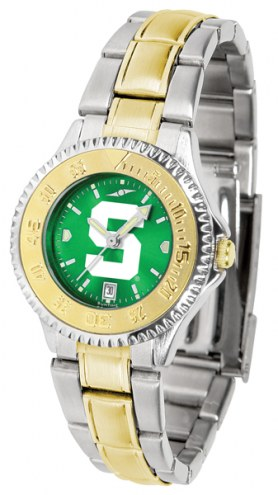 Michigan State Spartans Competitor Two-Tone AnoChrome Women's Watch