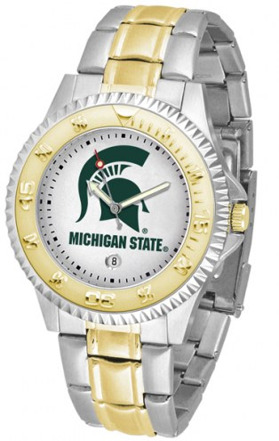 Michigan State Spartans Competitor Two-Tone Men's Watch