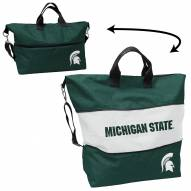 Michigan State Spartans Crosshatch Expandable Tote
