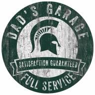 Michigan State Spartans Dad's Garage Sign