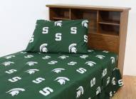 Michigan State Spartans Dark Bed Sheets