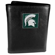 Michigan State Spartans Deluxe Leather Tri-fold Wallet in Gift Box