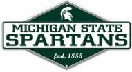 Michigan State Spartans Diamond Panel Metal Sign
