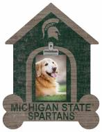 Michigan State Spartans Dog Bone House Clip Frame