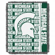 Michigan State Spartans Double Play Woven Throw Blanket