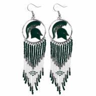 Michigan State Spartans Dreamcatcher Earrings